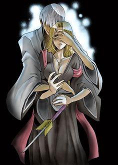gin x ran Bleach Rukia, Bleach Anime, Bleach Fanart, Sad Anime, Anime Love, Manga Anime, Ichimaru Gin, Rangiku Matsumoto, Departed Soul