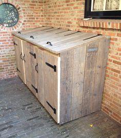 Trash Can Storage Outdoor, Outdoor Ideas, Outdoor Decor, Interior Ideas, Barbecue, Garden Ideas, Backyard, Outdoor Furniture, House