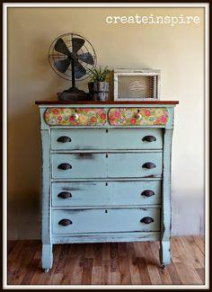 {createinspire}: Antique Empire in Chappel Green by Farrow & Ball White Painted Furniture, Paint Furniture, Furniture Projects, Furniture Makeover, Refinished Furniture, Distressed Furniture, Diy Projects, Built In Shelves, Build Shelves