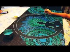 Mandala artwork on two canvases Painted with Fabrica Acrylic paints. Time taken: 2 days Theme: Buddha . Mandala Art Lesson, Mandala Artwork, Mandala Canvas, Mandala Drawing, Mandala Painting, Buddha Drawing, Buddha Painting, Dot Art Painting, Acrylic Artwork