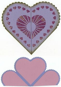 Heart fold card - Monica's Creative Room