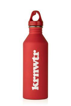De Rode KRNWTR RVS Fles