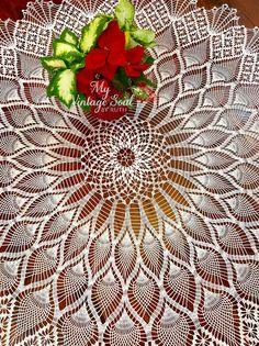 Lace Doilies, Crochet Doilies, Crochet Lace, Hand Crochet, Crochet Hooks, Filet Crochet, Crochet Round, Irish Crochet, Crochet Tablecloth Pattern