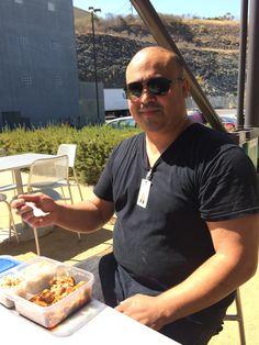 Food Banker Vlad at our #HungerChallenge lunch.