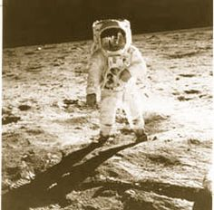 I saw them walk on the moon .What an amazing thing it was