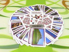 Hracie karty s najkrajšími slovenskými pamiatkami   Zlavomat.sk Poker, Playing Cards, Playing Card Games, Game Cards, Playing Card