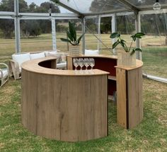 What's a party without a decent bar? Have half or a full circular bar for your next event, wedding or party.
