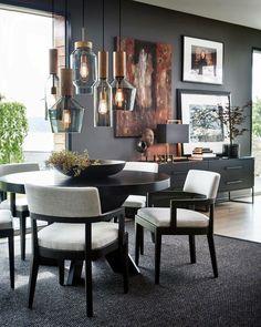 Home Decoration For Ganpati Free Interior Design, Interior Design Inspiration, Interior Decorating, Piece A Vivre, Elegant Homes, Dining Room Design, Decor Room, Room Colors, Wall Colors