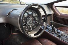 Maserati Boomerang steering wheel and instruments