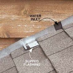 12 Roof Repair Tips: Find and Fix a Leaking Roof - Roof Repair: How to Find and Fix Roof Leaks – Article Nail Swag, Roof Flashing, Diy Roofing, Steel Roofing, Modern Roofing, Yard Maintenance, Home Fix, Diy Home Repair, Home Repairs