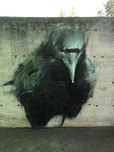 A mind without purpose will wander in dark places. The Crow, a street art graffiti by Manolo Mesa. Graffiti Artwork, Street Art Graffiti, Graffiti Painting, Graffiti Artists, Graffiti Lettering, Mural Painting, Abstract Paintings, Art Paintings, Amazing Street Art