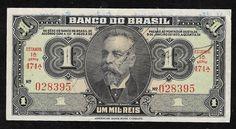 Brasil - Cédula de 1 mil réis autografada e em ótimo estado de conservação! Série 474!