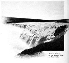 "Across America via the ""Great northern."" (1899) | Rainbow Falls Missouri River"