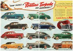 Pontiac Torpedo 1940 car ad