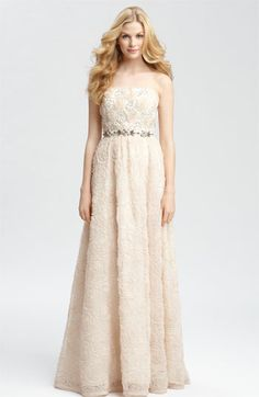 Adrianna Papell Strapless Soutache Gown | Nordstrom  $278