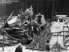 """On May 3, 1980, anti-nuclear activists occupied site 1004 (which was located in the vicinity of Gorleben in Lower Saxony) to stop the federal government from running drilling trials for a nuclear waste facility. A village of wooden huts was erected and the """"Free Republic of Wendland"""" was proclaimed. It had its own flag and issued passports; approximately 300 people lived there for a time. Several thousand sympathizers also passed through the village; most were residents of the region. On…"""