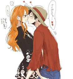 Lunami Valentine's Day One piece Luffy X Nami Source by luffy One Piece Manga, One Piece Series, Zoro One Piece, One Piece Ship, One Piece Comic, One Piece Fanart, Nami Swan, One Piece Crew, Luffy X Nami