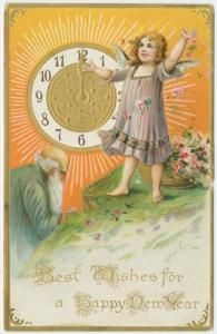 Image ID: 1587900  Best wishes for a happy New Year. (ca. 1909)