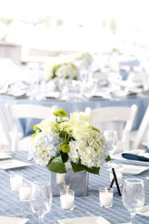 hydrangea table setting