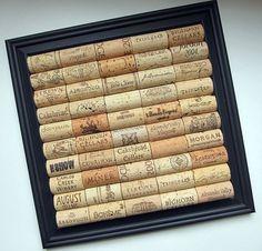 Wine Cork Board With Black Square Frame - Office, Kitchen, Man Cave, Organizer, Home Decor
