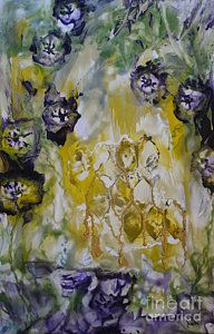 Encaustic Painting - The Miracle Of My Honeycomb by Heather Hennick