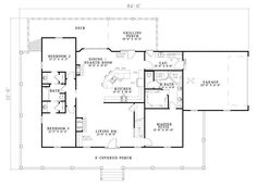 First Floor image of Olive Street House Plan