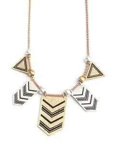 Geometric Aztec Necklace $27