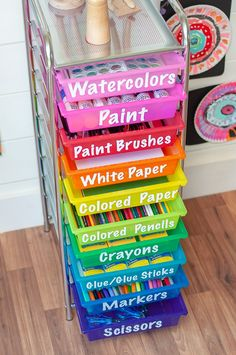 35 Kids Art Supply Storage Ideas In 2021 Art Supplies Storage Kids Art Supplies Craft Room