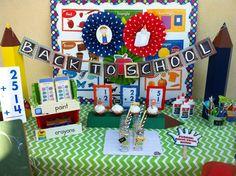 Una mesa creativa para una fiesta vuelta al cole / A creative table for a back-to-school party