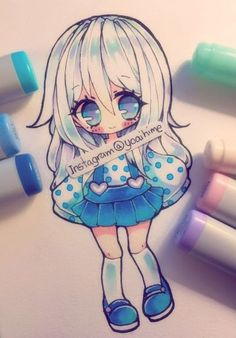 Marvelous Learn To Draw Manga Ideas. Exquisite Learn To Draw Manga Ideas. Art Kawaii, Kawaii Chibi, Cute Chibi, Anime Kawaii, Copic Marker Art, Copic Art, Manga Drawing, Manga Art, Anime Art