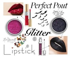 """perfect pout"" by erliza on Polyvore featuring beauty, Yves Saint Laurent, Christian Dior and Anya Hindmarch"