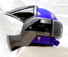 Masei 911 Blue Gray Macross Gundam Robotech Motorcycle Bike Chopper Helmet E130 #MaseiHelmet