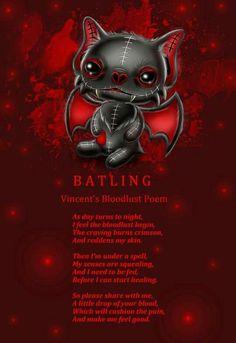 Frightlings: Vincent Batling's Blood Lust Poem.