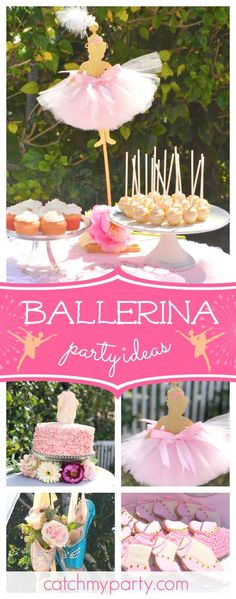 Don't miss this pretty Ballerina birthday party! The birthday cake is so pretty!! See more party ideas and share yours at CatchMyParty.com #catchmyparty #partyideas #ballerinabirthdayparty