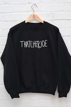 Thatcherjoe Name Jumper Youtube Male Female FAN Joe Sugg vlogger Hoody GIFT R476