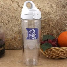 Duke Blue Devils Tervis Tumbler 24 oz. Water Bottle by Tervis Tumbler Co.. $24.95. Greatly reduces condensation/sweating. Tervis Tumbler 24 oz. Water Bottle. Comes with an easy-open snap lid that you can access on the move. Fits most cup holders and bicycle cages , Holds up to 24oz of your favorite beverage , Made in America , 10.4'' tall x 3.4'' top x 2.5'' bottom , Officially licensed. An opening large enough to fit ice cubes. Both functional and sporty, this Duke Blue Devi...