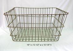 Wire Crate Heavy Duty Wire Basket Industrial by GoshenPickers
