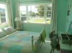 Teenage Girls Bedroom: A Teal/Duck egg blue shade with shabby chic, vintage and french influences. Teal Duck, Duck Egg Blue, Teenage Girl Bedrooms, Girls Bedroom, Painted Floorboards, Rustic Bathrooms, Shabby Chic Bedrooms, French, Kitchens