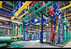 Colorful Pipes In The Dalles - In Photos: Stunning Photos Of Google's Massive Data Centers