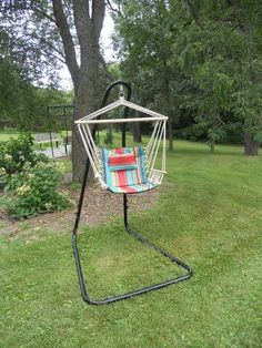 Hanging Hammock Chair with Pillow and Arms