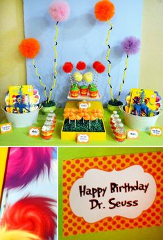 Dr. Seuss' The Lorax Inspired Dessert Table