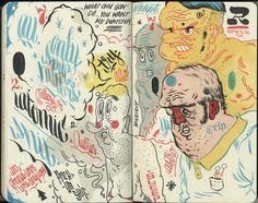 Andres Guzman Sketchbook page