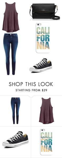 """""""Untitled #84"""" by karenrodriguez-iv on Polyvore featuring Lee, RVCA, Converse, Casetify, Kate Spade, women's clothing, women, female, woman and misses"""