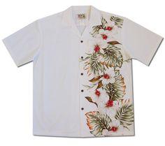 Classic colors of black white the Onyx Hawaiian Shirt