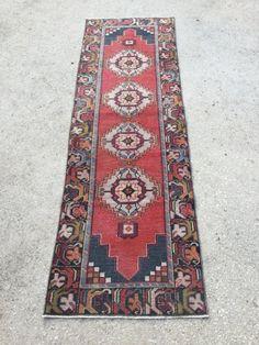 9.2x2.9 feet 282x89 cm, BOHEMIAN RUG, Handmade Runner Turkish Runner Traditional Floor Rug Runner Runners Turkish Runner Home Decor Runner