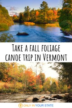 Vermont has some of the best fall foliage in the US and one unique way to enjoy it is by taking an autumn canoe trip. This particular forest trail is perfect for leaf peeping. Forest Falls, Forest Trail, Best States To Visit, Places To Visit, Usa Travel Guide, Travel Usa, Whitewater Kayaking, Canoeing, Canoe Trip