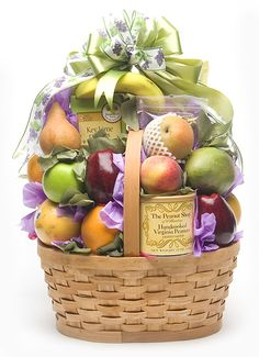 Choose Health - A different Selection of Healthier snacks - Great for those folks with dietary needs. Holiday Gift Baskets, Diy Gift Baskets, Gift Hampers, Basket Gift, Fruit Crafts, Fruit Arrangements, Fruit Trees, Healthy Snacks, Berries