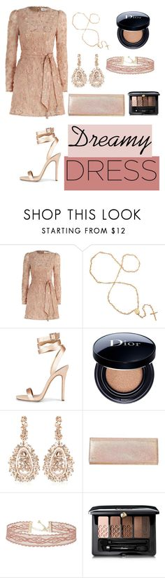 """Dream Dress"" by dazzlers ❤ liked on Polyvore featuring Zimmermann, Christian Dior, Suzanne Kalan, Gucci, Miss Selfridge and Guerlain"