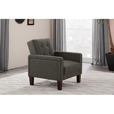 $126.88 Better Homes and Gardens Porter Chair, Gray Linen
