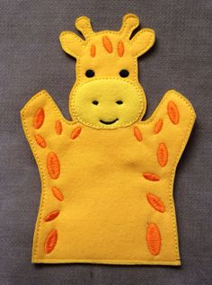Giraffe - Safari Animal Felt Puppet - Adult, Kid, AND Finger Puppet Sizes